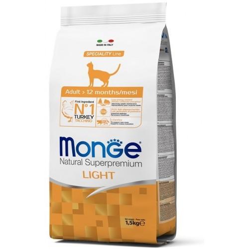 MONGE CAT LIGHT TACCHINO (TURKEY) 1,5 кг