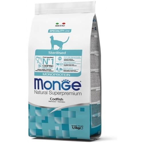 MONGE CAT SETERILIZ MERLUZZO (COD) 1,5 кг