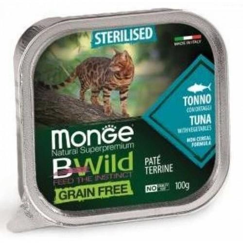 Cat BWild GRAIN FREE - Беззерновые консервы из тунца с овощами для стерилизованных кошек