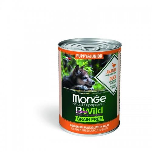 Dog BWild GRAIN FREE Puppy&Junior - Беззерновые консервы из утки с тыквой и кабачками для щенков всех пород