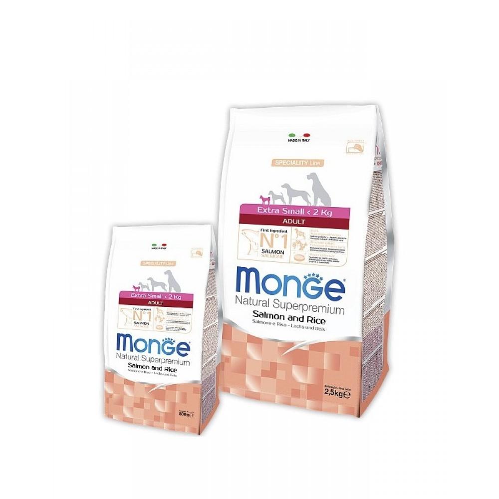 Monge Dog Speciality Extra Small - Корм для взрослых собак миниатюрных пород с лососем и рисом
