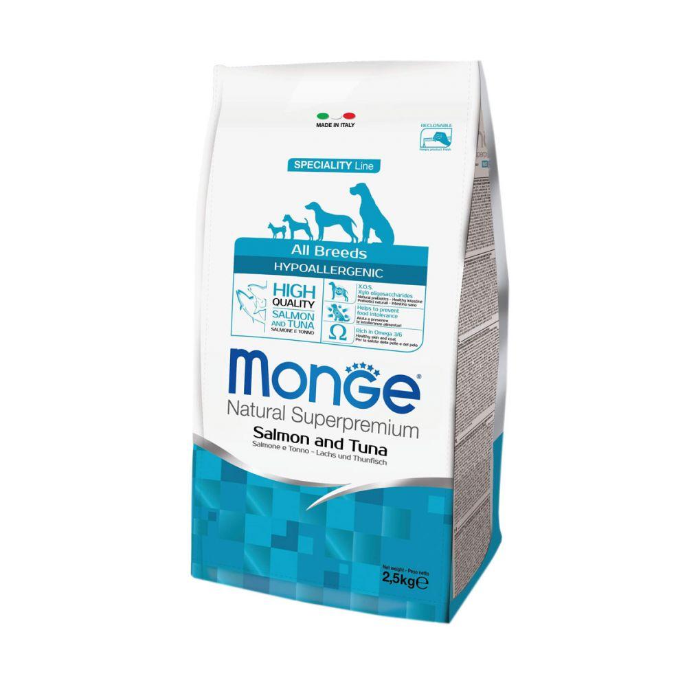 Monge Dog Speciality Hypoallergenic - Корм для собак гипоаллергенный с лососем и тунцом