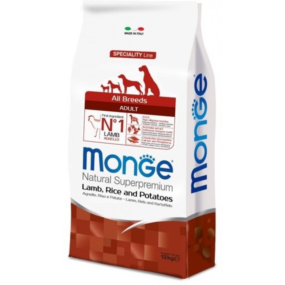 Monge Dog Speciality - Корм для собак всех пород с ягненком, рисом и картофелем