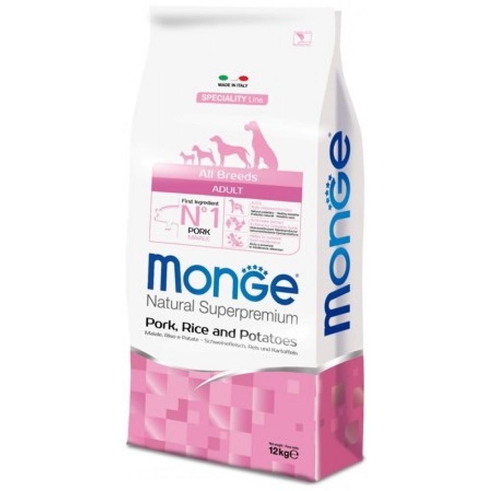 Monge Dog Speciality - Корм для собак всех пород со свининой, рисом и картофелем