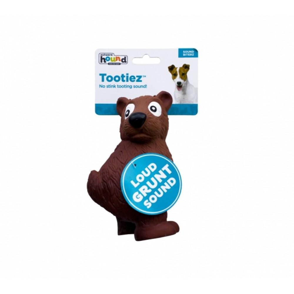 """Petstages OH Tootiez - Игрушка для собак """"Медведь"""" латекс с пищалкой"""