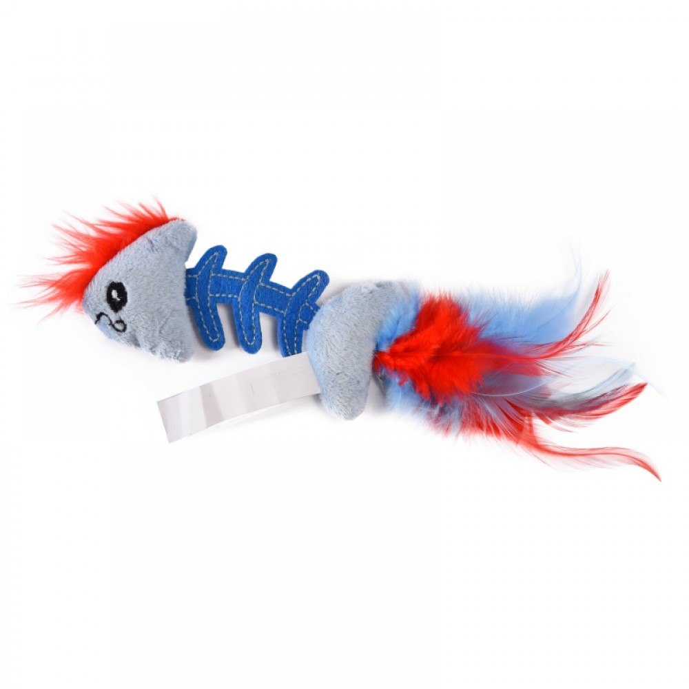 "Petstages Play - Игрушка для кошек ""Fish Bone"" голубая"