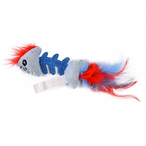 """Play - Игрушка для кошек """"Fish Bone"""" голубая"""