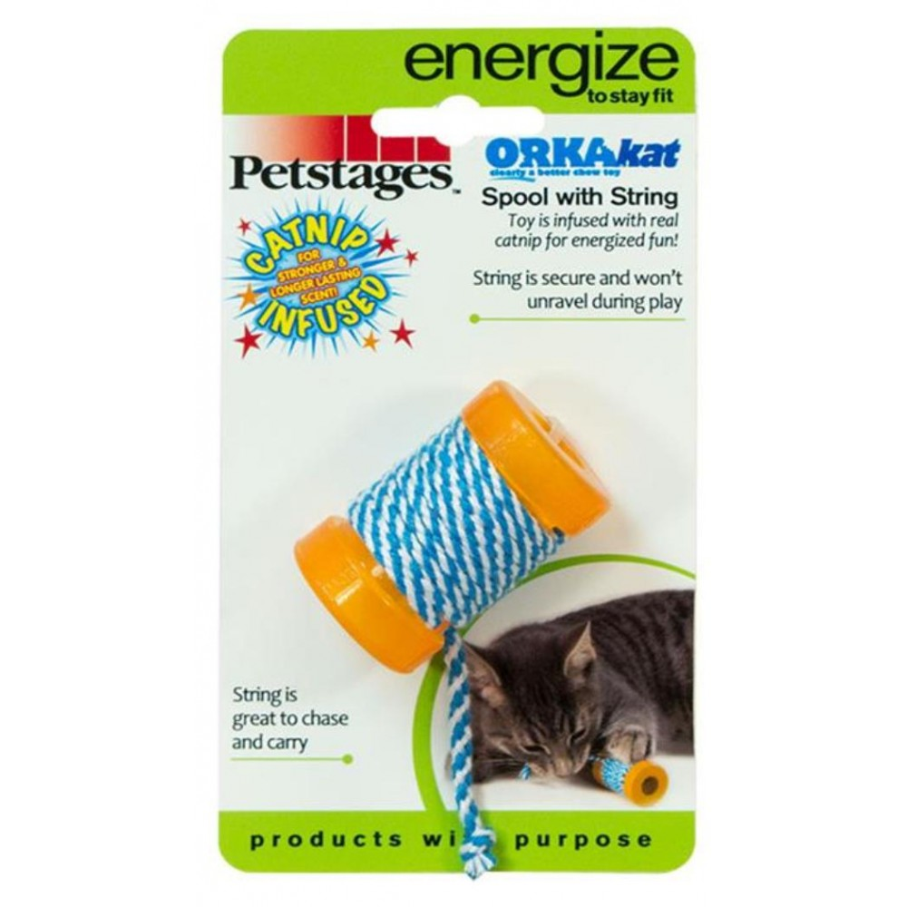"""Petstages Energize - Игрушка для кошек """"ОРКА катушка с веревочкой"""""""