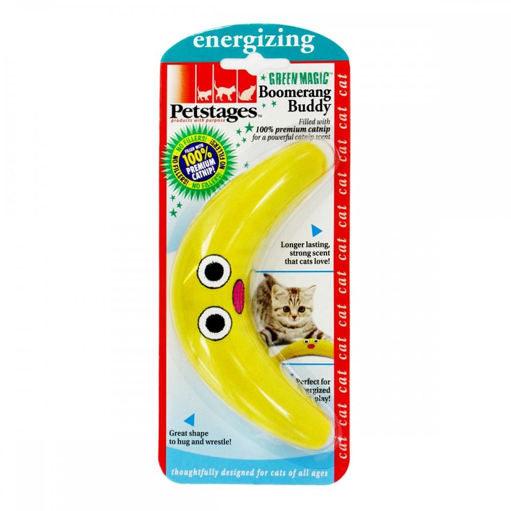 """Petstages Energize - Игрушка для кошек """"Желтый бумеранг"""" с кошачьей мятой"""