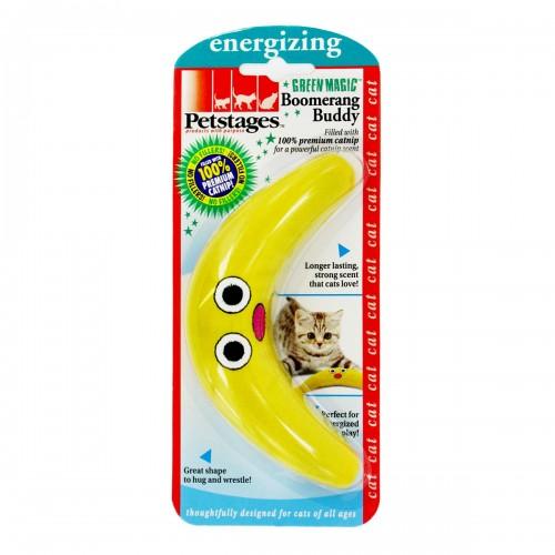 """Energize - Игрушка для кошек """"Желтый бумеранг"""" с кошачьей мятой"""
