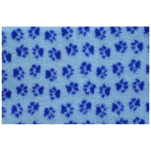 Коврик меховой для кошек и собак голубой/синий