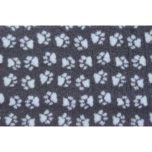 Коврик меховой для кошек и собак угольный/голубой