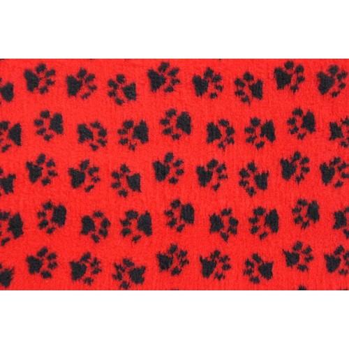 Коврик меховой для кошек и собак красный/черный