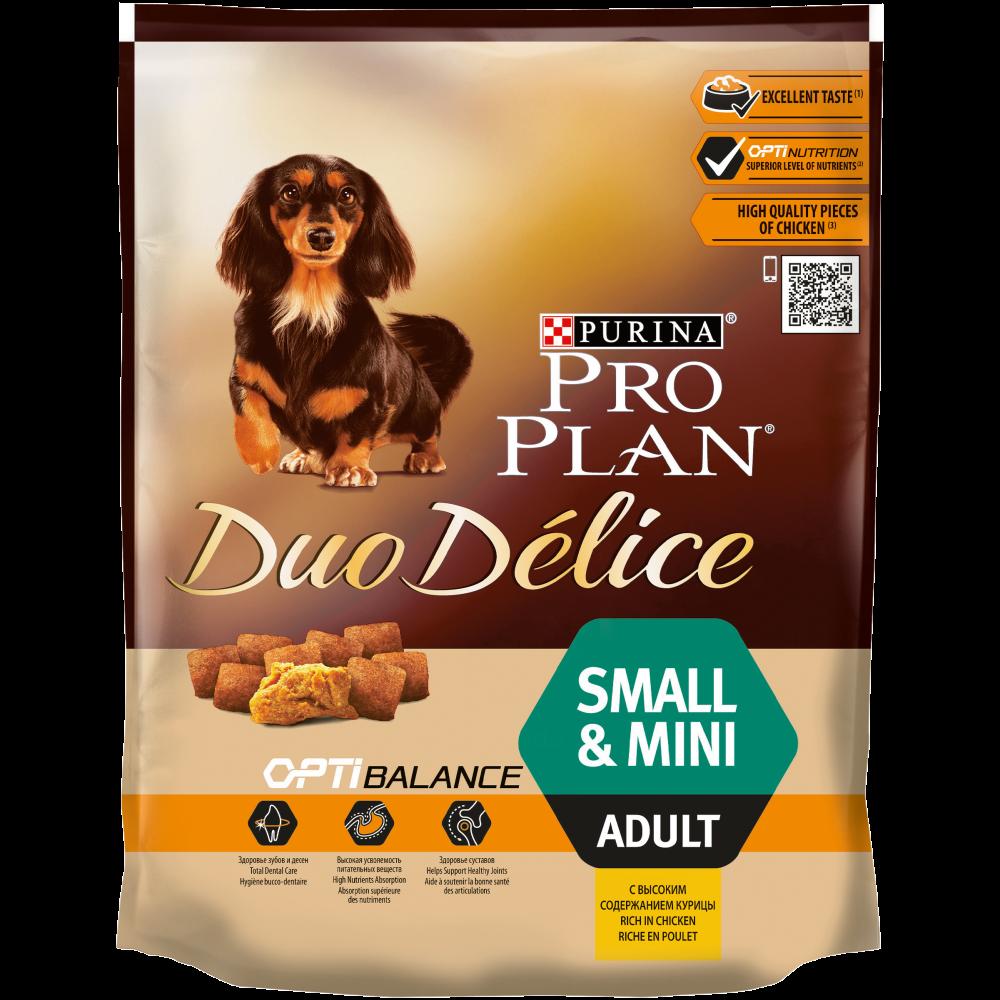 """Purina PRO PLAN """"DUO DELICE Adult Small"""" - Сухой корм Пурина для собак мелких и карликовых пород, Курица/Рис"""