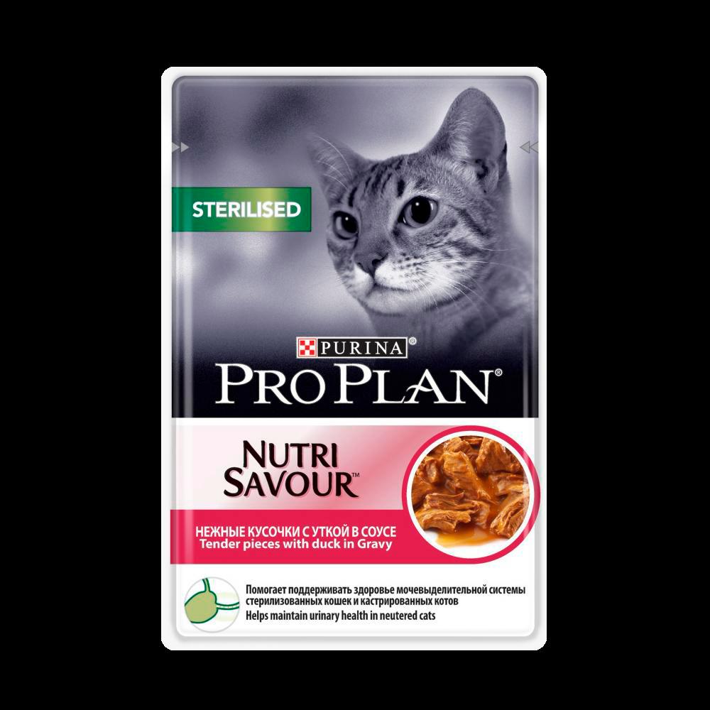 """Purina PRO PLAN """"Sterilised"""" - Влажный корм (консервы) Пурина для стерилизованных кошек, Утка ПАУЧ"""