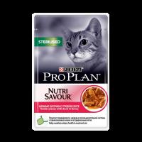 """PRO PLAN """"Sterilised"""" - Влажный корм (консервы) Пурина для стерилизованных кошек, Утка ПАУЧ"""