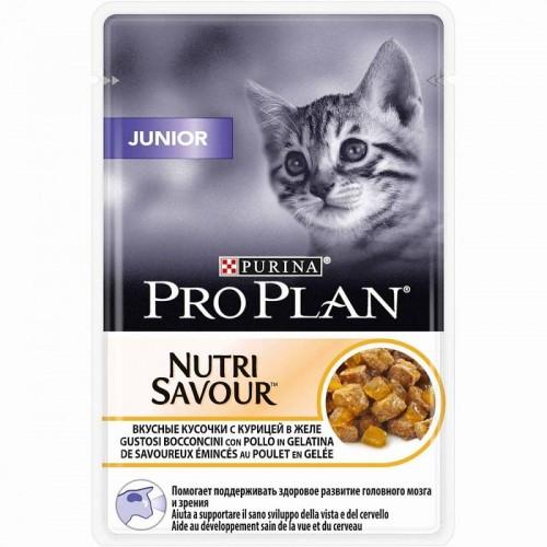 """PRO PLAN """"Junior"""" - Влажный корм (консервы) Пурина для котят, Курица ПАУЧ"""