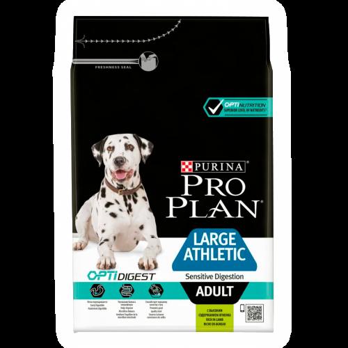 """PRO PLAN OPTIDIGEST """"Adult Large Athletic Sensitive Digestion"""" - Сухой корм Пурина для взрослых собак крупных пород с атлетическим телосложением и чувствительным пищеварением с ягненком и рисом"""