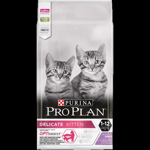 """PRO PLAN OPTIDIGEST """"Delicate Kitten"""" - Сухой корм Пурина для котят с чувствительным пищеварением, Индейка"""