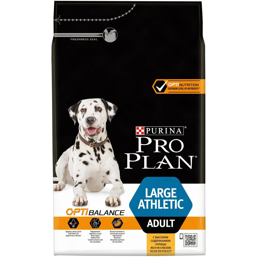 """Purina PRO PLAN OPTIBALANCE """"Adult Large Athletic"""" - Сухой корм Пурина для собак крупных пород с атлетическим телосложением, Курица/Рис"""