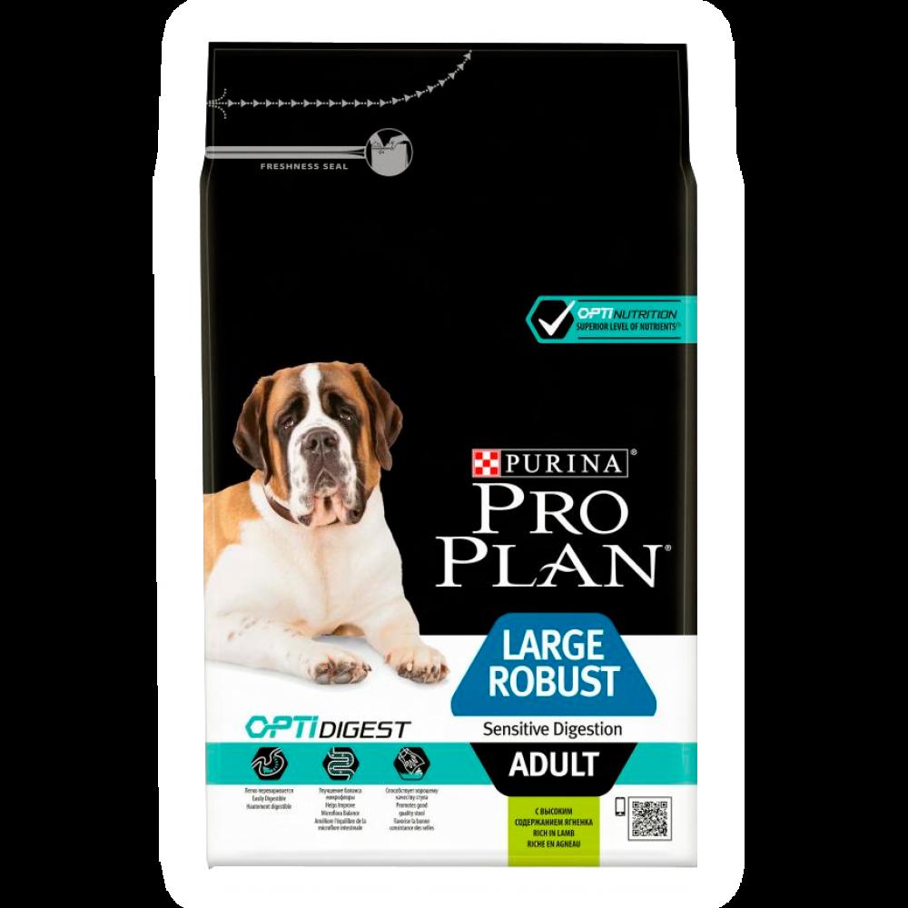 """Purina PRO PLAN OPTIDIGEST """"Adult Large Robust Sensitive Digestiont"""" - Сухой корм Пурина для взрослых собак крупных пород с мощным телосложением и чувствительным пищеварением с ягненком и рисом"""