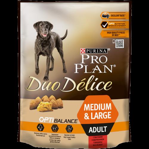 "PRO PLAN ""DUO DELICE Adult"" - Сухой корм Пурина для собак, Говядина/Рис"