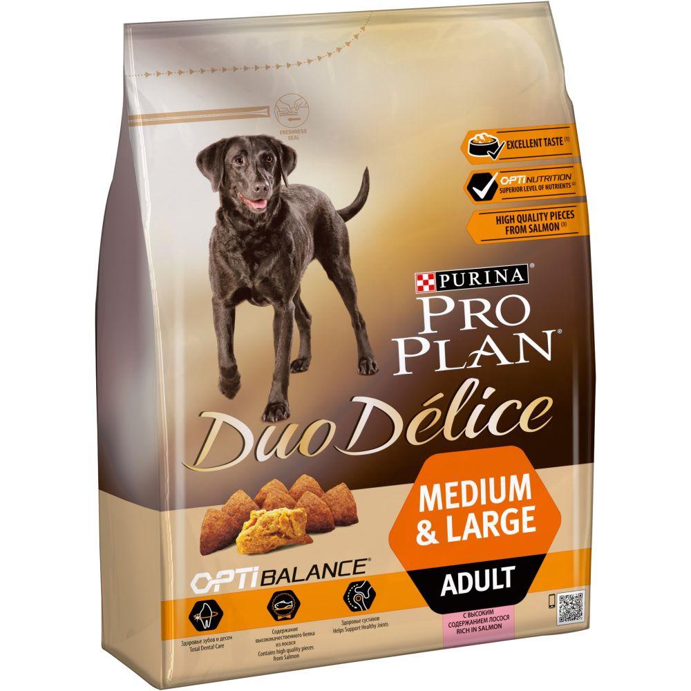 "Purina PRO PLAN ""DUO DELICE Adult"" - Сухой корм Пурина для собак, Лосось/Рис"