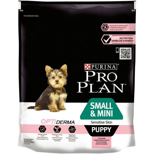 """PRO PLAN OPTIDERMA """"Puppy Small&Mini Sensitive Skin"""" - Сухой корм Пурина для щенков мелких и карликовых пород с чувствительной кожей, Лосось"""