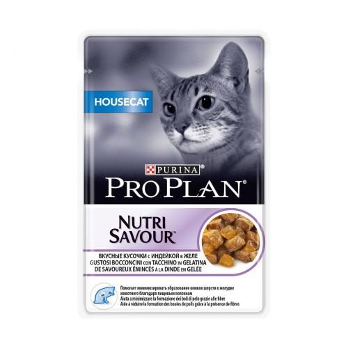 """PRO PLAN """"HouseCat"""" - Влажный корм (консервы) Пурина для домашних кошек, Индейка ПАУЧ"""