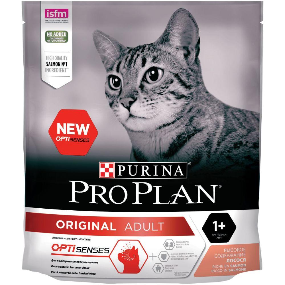"""Purina PRO PLAN OPTISENSES """"Adult"""" ORIGINAL - Сухой корм Пурина для взрослых кошек, Лосось"""