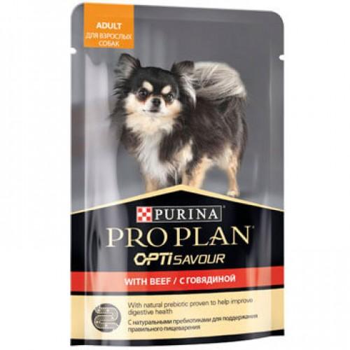PRO PLAN - Влажный корм (консервы) Пурина для взрослых собак, Говядина
