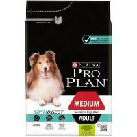 """PRO PLAN OPTIDIGEST """"Adult Medium Sensitive Digestion"""" - Сухой корм Пурина для взрослых собак средних пород с чувствительным пищеварением с ягненком и рисом"""
