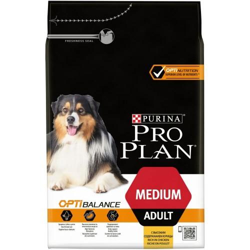 "PRO PLAN OPTIBALANCE ""Adult Medium"" - Сухой корм Пурина для собак средних пород, Курица"
