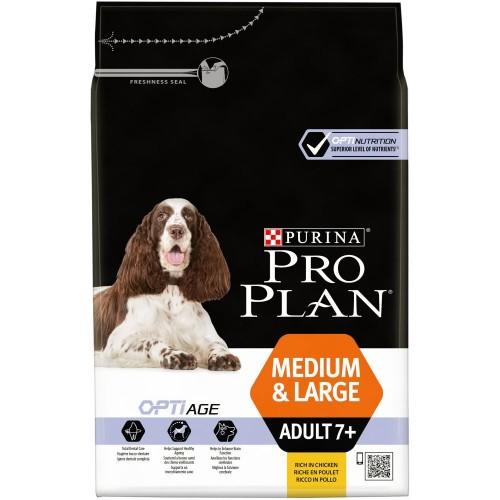 """PRO PLAN OPTIAGE """"Adult 7+ Medium&Large"""" - Сухой корм Пурина для собак средних и крупных пород, Курица"""