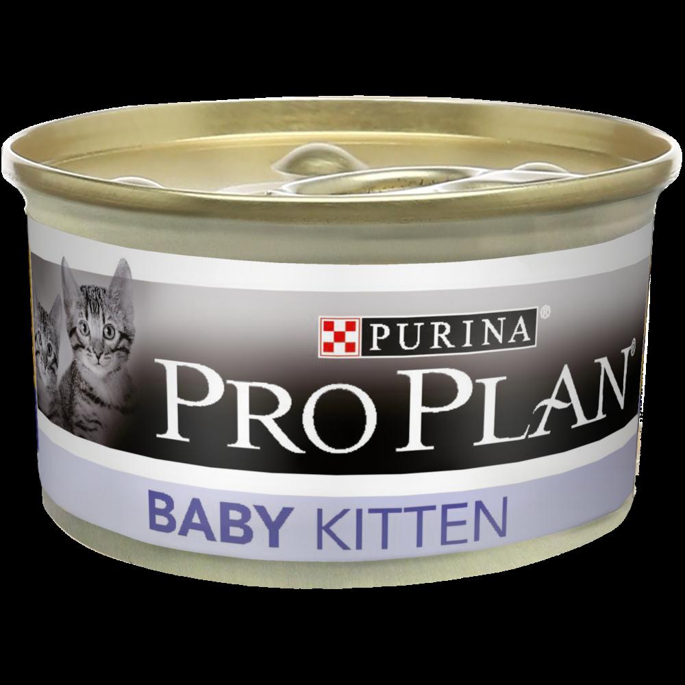"""Purina PRO PLAN """"Baby"""" - Влажный корм (консервы) Пурина для котят, мусс Курица БАНКА"""