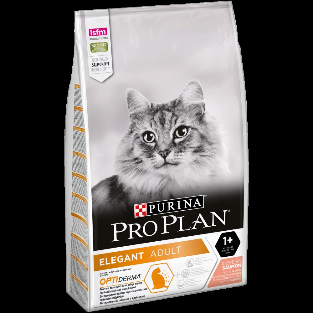 """Purina PRO PLAN Cat """"Элегант"""" - Сухой корм Пурина для кошек, красивая шерсть, Лосось"""