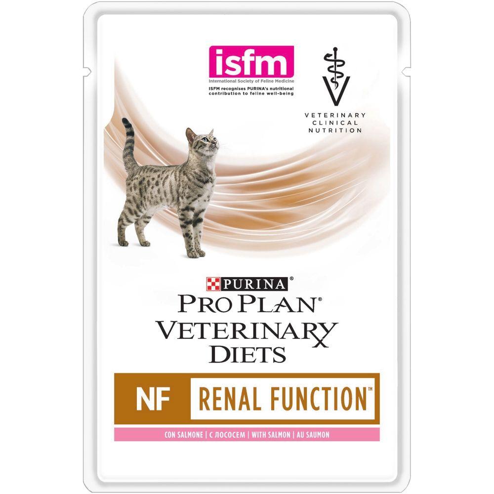 Purina Veterinary Diets (NF) - Диетический влажный корм Пурина для кошек при заболеваниях почек, Лосось ПАУЧ