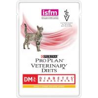 Veterinary Diets (DM) - Диетический влажный корм Пурина для кошек при Диабете, Курица ПАУЧ