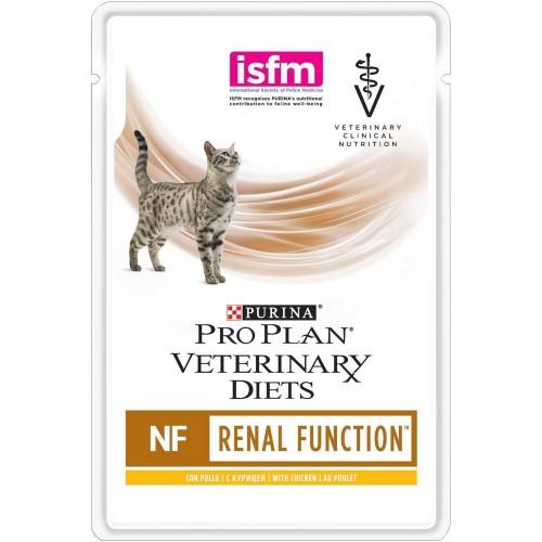 Veterinary Diets (NF) - Диетический влажный корм Пурина для кошек при заболеваниях почек, Курица ПАУЧ