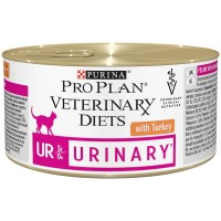 Veterinary Diets (UR) - Диетический влажный корм Пурина для кошек при заболеваниях мочевыделительной системы (МКБ), мусс с Индейкой БАНКА