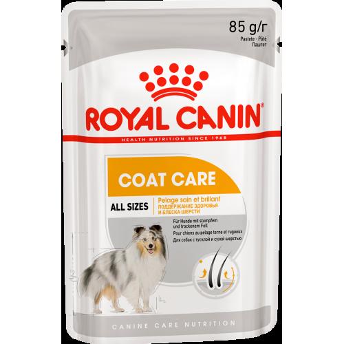 """Coat Care - Влажный корм для взрослых собак с тусклой и сухой шерстью """"Роял Канин Коат Кэа Эдалт"""""""
