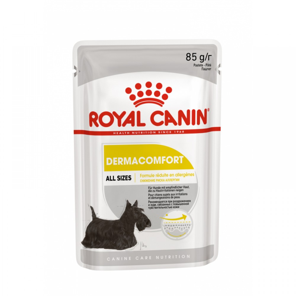 """Royal Canin Dermacomfort - Паштет для собак с чувствительной кожей, склонной к раздражениям """"Роял Канин Дерма Комфорт Эдалт"""""""
