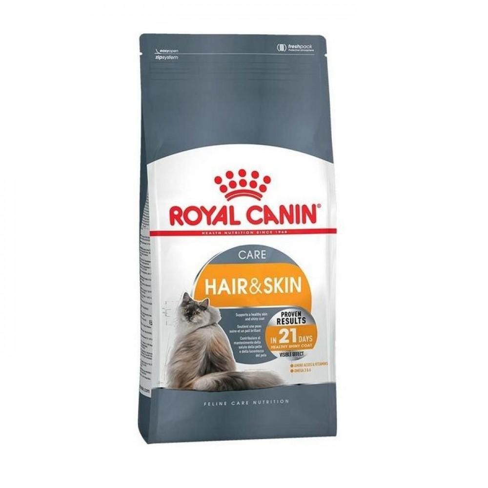 "Royal Canin Hair And Skin Care - Корм для взрослых кошек, способствующий здоровью кожи и блеску шерсти ""Роял Канин ФКН7 Хэйр энд Скин Кэа"""