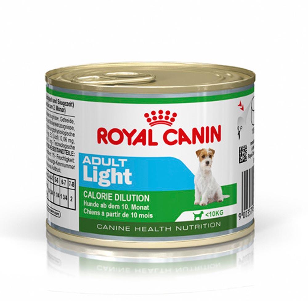 """Royal Canin Light Adult - Влажный корм для взрослых собак, предрасположенных к полноте """"Роял Канин Эдалт Лайт Мусс"""""""