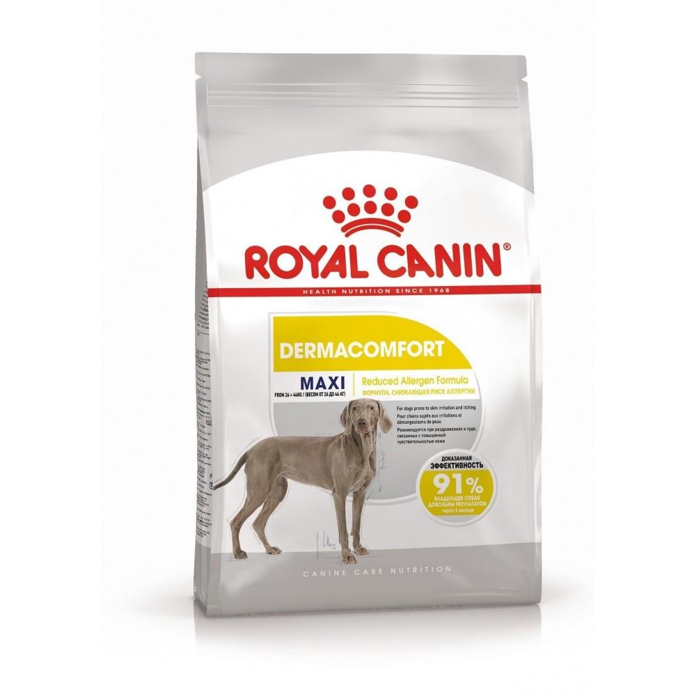 """Royal Canin Maxi Dermacomfort - Корм для взрослых собак крупных пород при раздражениях кожи и зуде """"Роял Канин Макси Дерма Комфорт"""""""