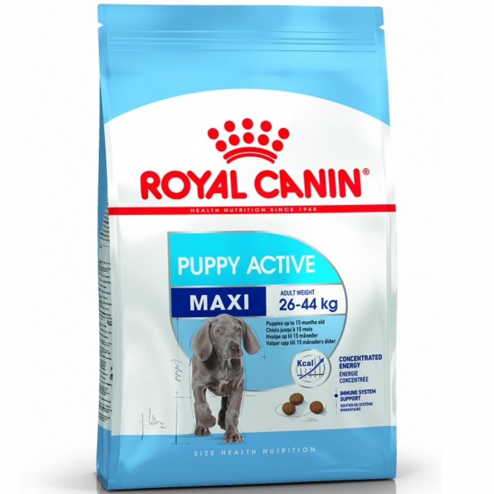 """Royal Canin Maxi Puppy Active - Корм для щенков с высокими энергетическими потребностями """"Роял Канин Макси Паппи Актив"""""""