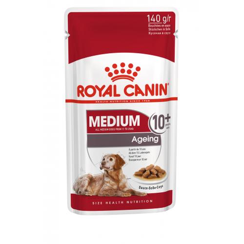 """Medium Ageing 10+ Влажный корм в соусе для стареющих собак средних пород """"Роял Канин Медиум Эйджинг 10+"""""""