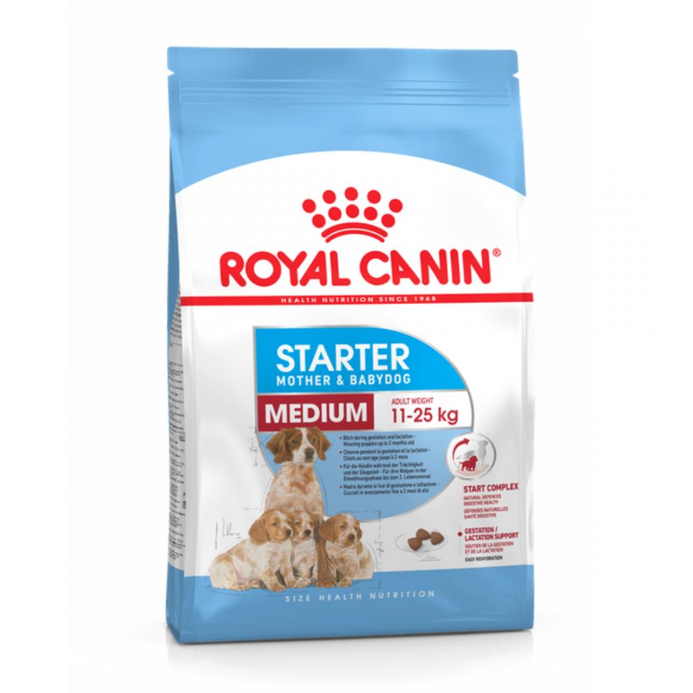 """Royal Canin Medium Starter - Корм для щенков средних размеров до 2-месячного возраста и для беременных и кормящих собак """"Роял Канин Медиум Стартер"""""""