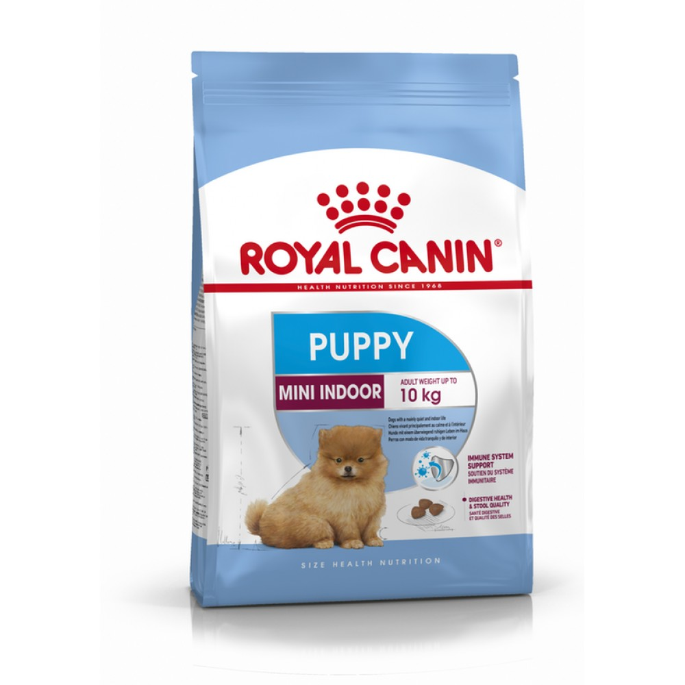 """Royal Canin Mini Indoor Puppy - Корм для домашних щенков миниатюрных пород """"Роял Канин Мини Индор Паппи"""""""