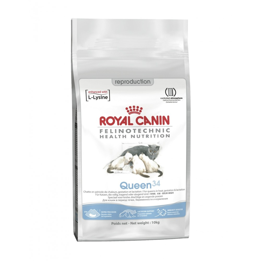 """Royal Canin Queen 34 - Корм для кошек во время течки, беременности и лактации """"Роял Канин Квин 34"""""""